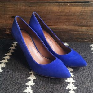 Chinese Laundry Blue Suede Pumps